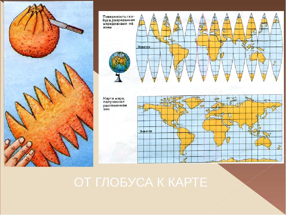 Географическая карта – это уменьшенное изображение Земли или ее частей на пло...