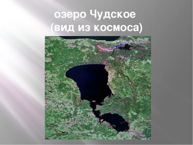 озеро Чудское (вид из космоса) http://wiki.pskovedu.ru/images/2/27/Lake_Peips...