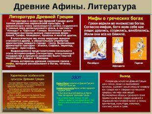 Древние Афины. Литература