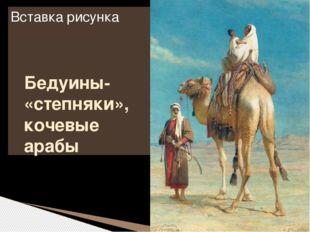 Бедуины- «степняки», кочевые арабы