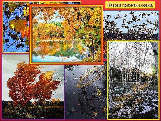 Назови признаки осени. Желтеют лисья, начинается листопад; погода становится...