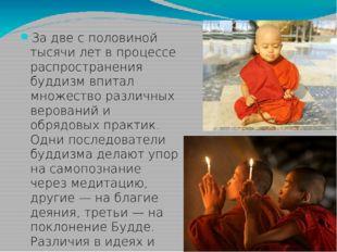 За две с половиной тысячи лет в процессе распространения буддизм впитал множ