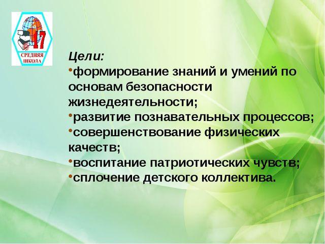 Цели: формирование знаний и умений по основам безопасности жизнедеятельности...