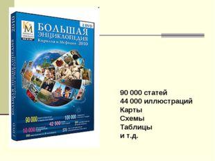 90 000 статей 44 000 иллюстраций Карты Схемы Таблицы и т.д.