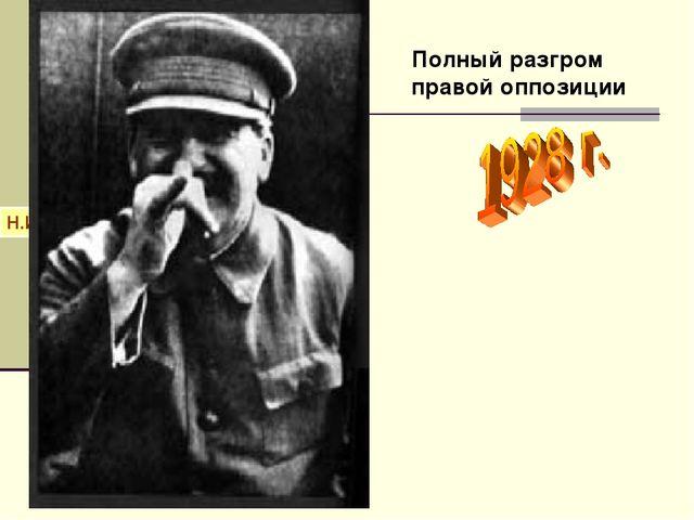 Н.И.Бухарин А.И.Рыков М.П.Томский Полный разгром правой оппозиции