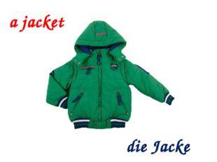 a jacket die Jacke