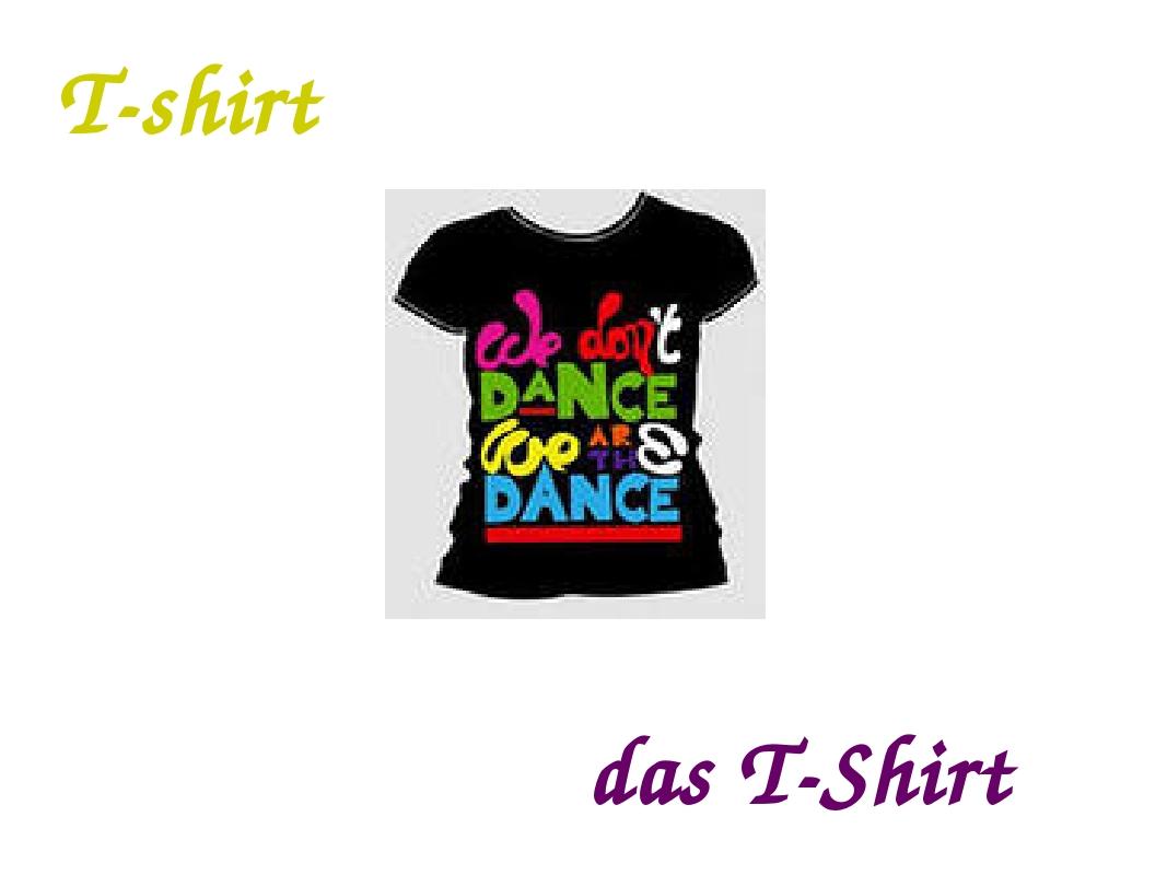 T-shirt das T-Shirt