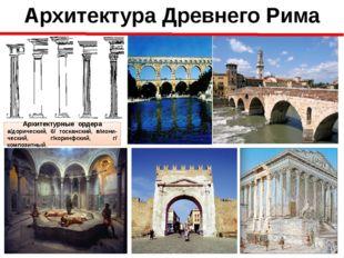 Архитектура Древнего Рима Архитектурные ордера а/дорический, б/ тосканский, в