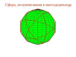 Сфера, полувписанная в икосододекаэдр