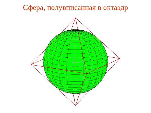 Сфера, полувписанная в октаэдр
