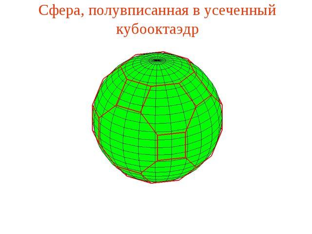 Сфера, полувписанная в усеченный кубооктаэдр