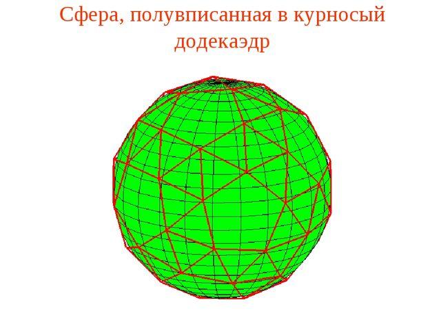 Сфера, полувписанная в курносый додекаэдр