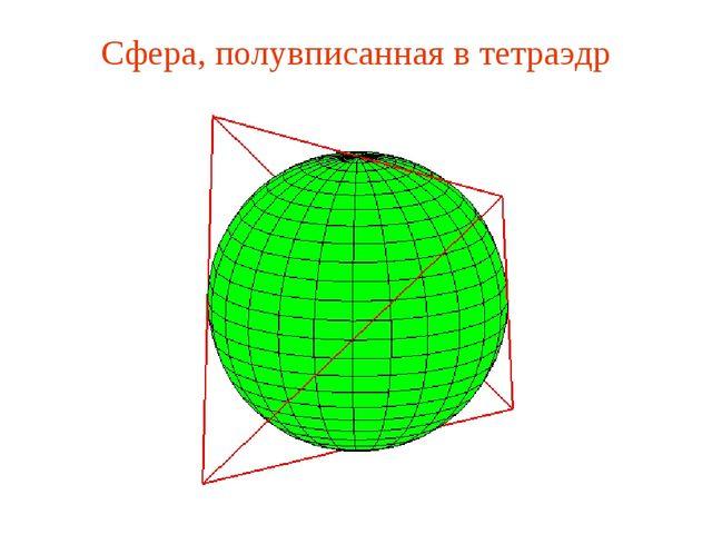 Сфера, полувписанная в тетраэдр