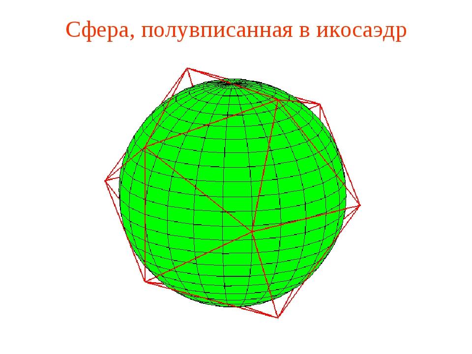 Сфера, полувписанная в икосаэдр