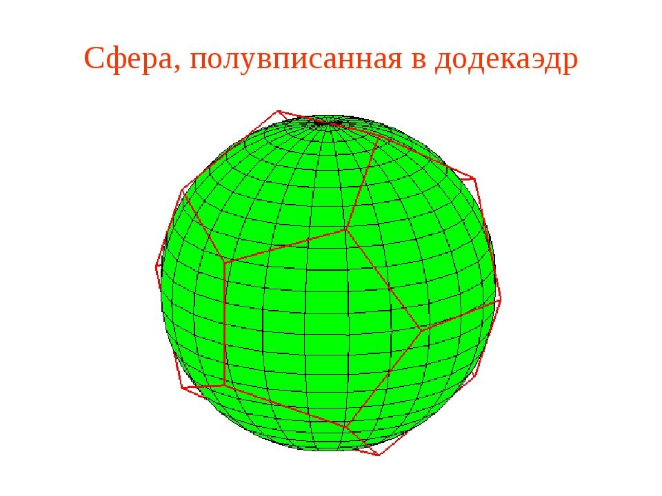 Сфера, полувписанная в додекаэдр