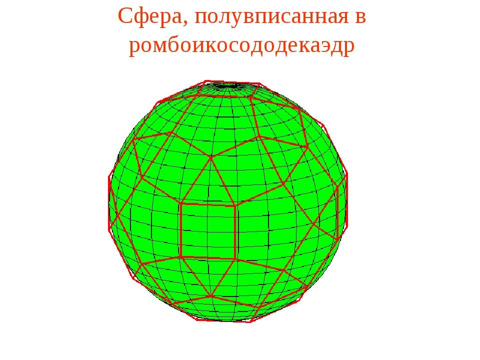 Сфера, полувписанная в ромбоикосододекаэдр