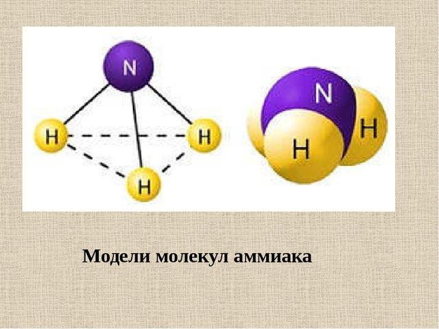 Модели молекул аммиака