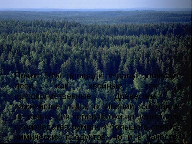 Почти 50% площади страны занимают леса, как хвойные, так и широколиственные....