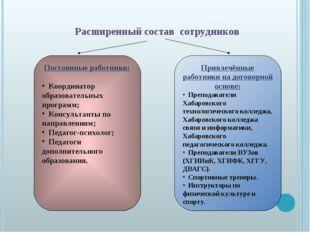 Привлечённые работники на договорной основе: Преподаватели Хабаровского техно
