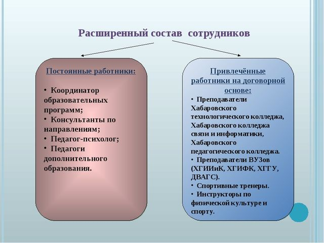 Привлечённые работники на договорной основе: Преподаватели Хабаровского техно...