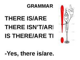 GRAMMAR THERE IS/ARE THERE ISN'T/AREN'T IS THERE/ARE THERE? -Yes, there is/ar
