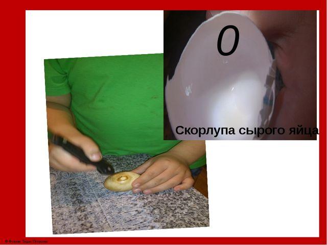 0 Скорлупа сырого яйца © Фокина Лидия Петровна