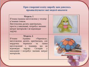 При створенні ескізу виробу нам довелось проаналізувати такі моделі-аналоги: