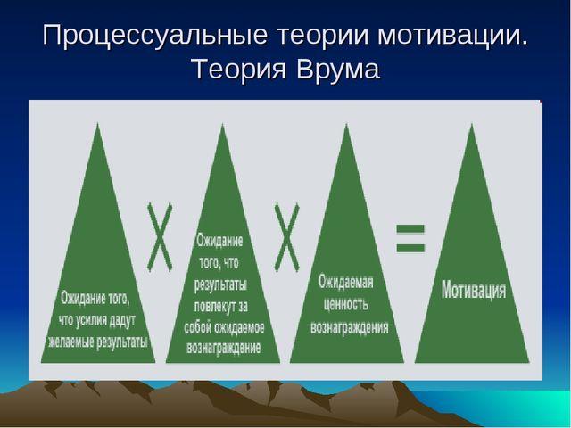 Процессуальные теории мотивации. Теория Врума