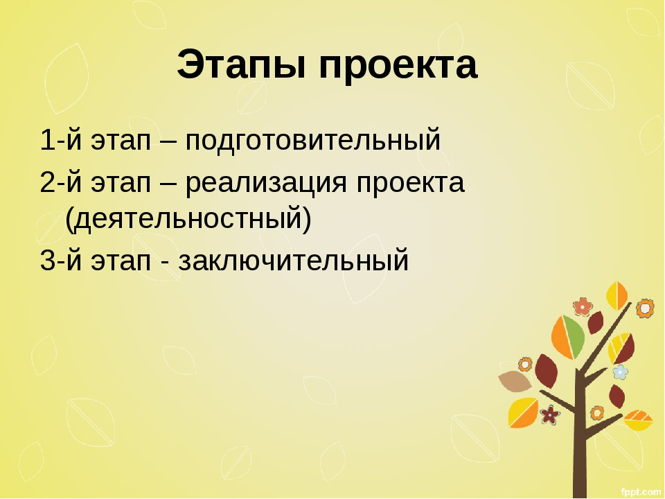 Этапы проекта 1-й этап – подготовительный 2-й этап – реализация проекта (деят...