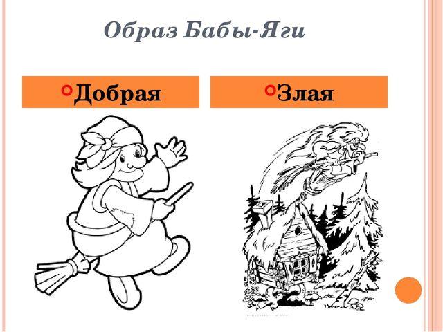 Образ Бабы-Яги Добрая Злая