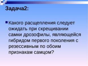 Задача2: Какого расщепления следует ожидать при скрещивании самки дрозофилы,