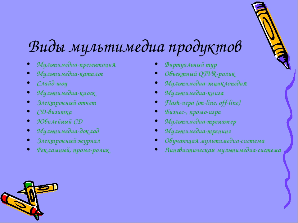 Виды мультимедиа продуктов Мультимедиа-презентация Мультимедиа-каталог Слайд-...
