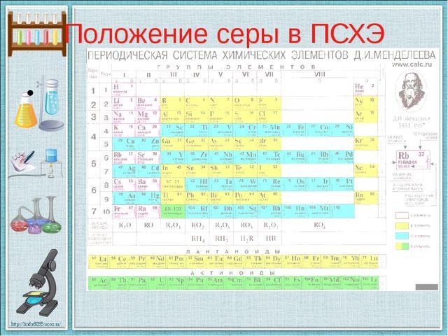 Положение серы в ПСХЭ http://linda6035.ucoz.ru/