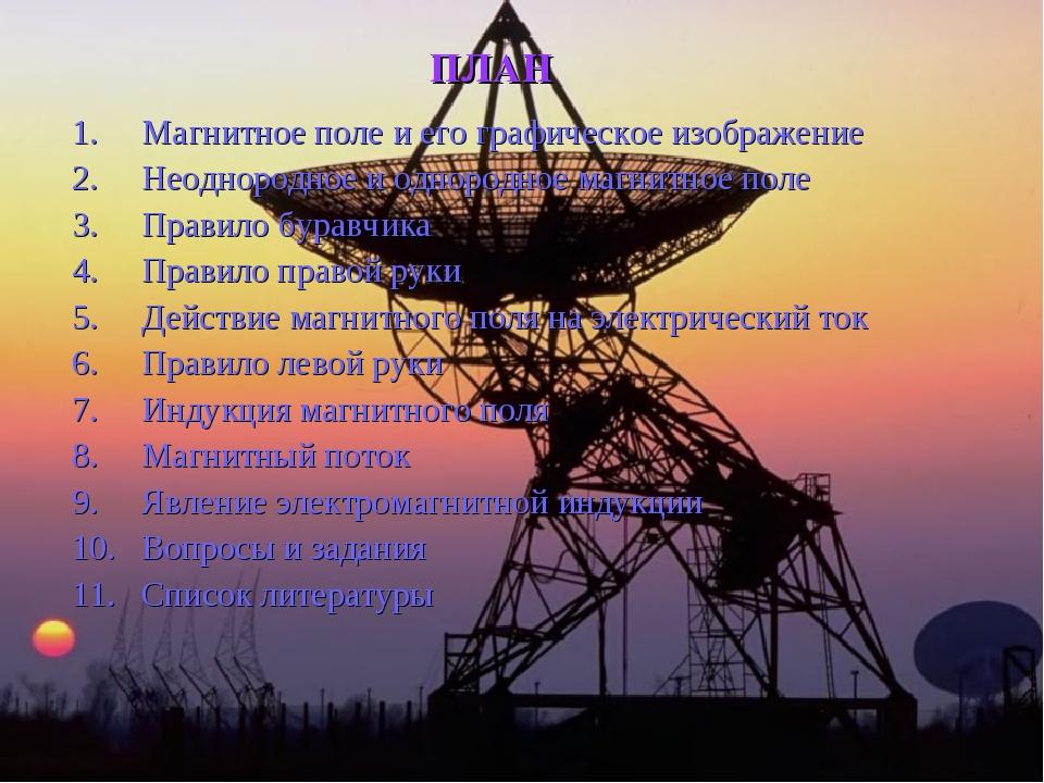 ПЛАН Магнитное поле и его графическое изображение Неоднородное и однородное м...
