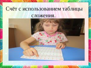 Счёт с использованием таблицы сложения.