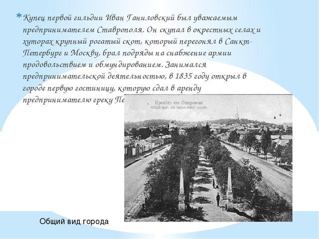 Купец первой гильдии Иван Ганиловский был уважаемым предпринимателем Ставропо...