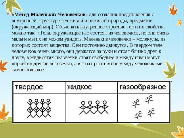 «Метод Маленьких Человечков» для создания представления о внутренней структур...