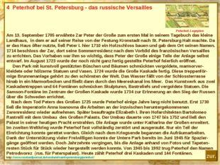 4 Peterhof bei St. Petersburg - das russische Versailles Peterhof, Lageplan A