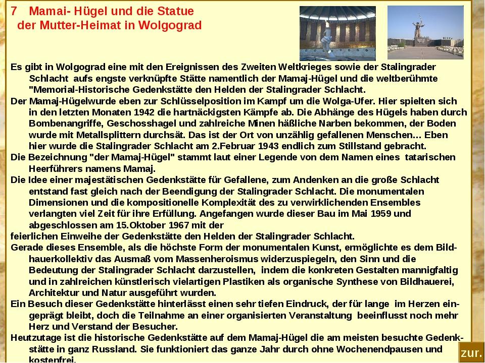 Mamai- Hügel und die Statue der Mutter-Heimat in Wolgograd Es gibt in Wolgogr...