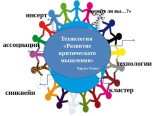 RAFT- технологии Технология «Развитие критического мышления» Чарльз Темпл си