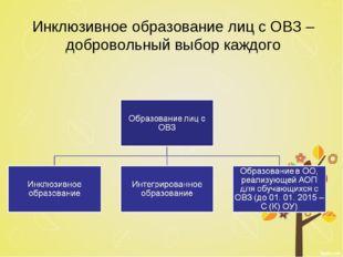 Инклюзивное образование лиц с ОВЗ – добровольный выбор каждого