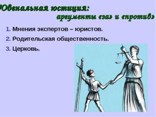 Ювенальная юстиция: аргументы «за» и «против» 2. Родительская общественность.