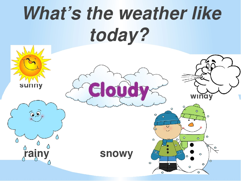 What's the weather like today? sunny windy rainy snowy