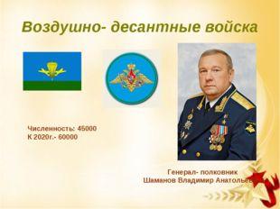 Воздушно- десантные войска Генерал- полковник Шаманов Владимир Анатольевич Чи