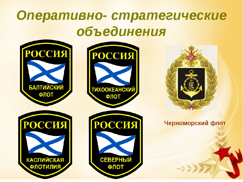 Оперативно- стратегические объединения Черноморский флот
