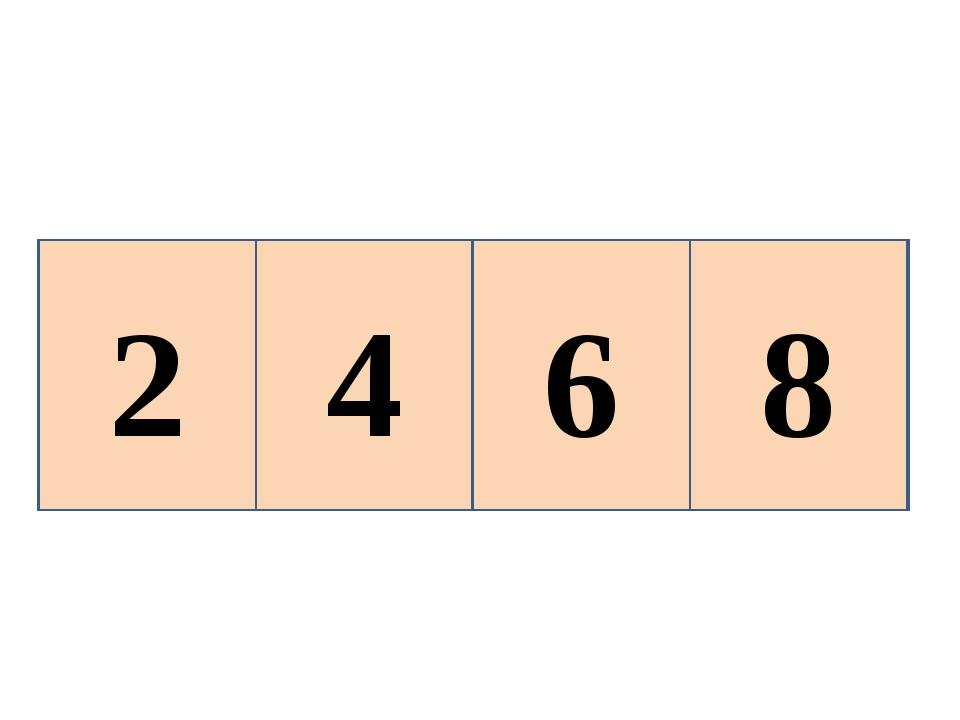 2 4 6 ? 8