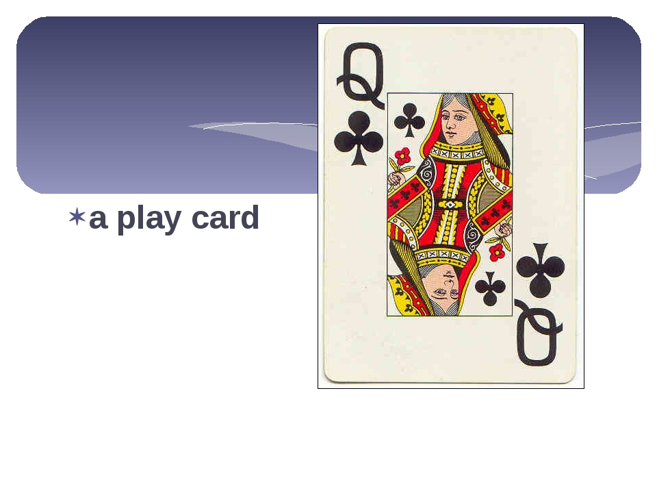 a play card