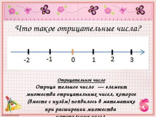 Что такое отрицательные числа? Отрицательное число Отрица́тельное число́— эл