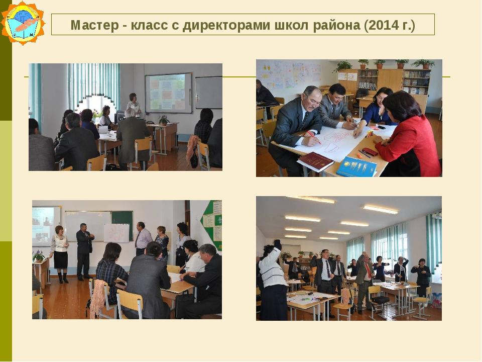 Мастер - класс с директорами школ района (2014 г.)