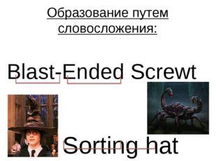 Образование путем словосложения: Sorting hat Blast-Ended Screwt